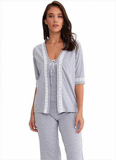 Ayyıldız Pijama Takım Gri